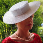 White lace Straw Boater $385